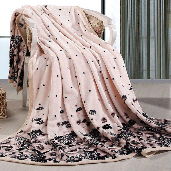 Chrysanthemum Printed Bed Throw Blanket - CHAMOMILE EURO KING