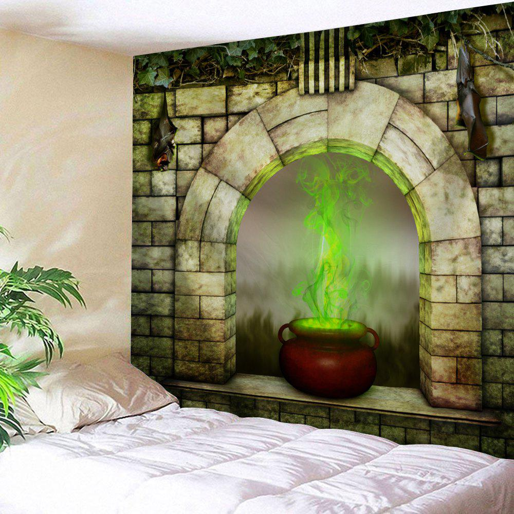 Window Censer Halloween Wall Art Tapestry - COLORMIX W79 INCH * L71 INCH