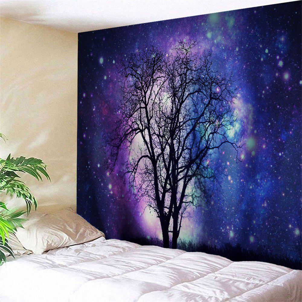 Wall Decor Hanging Galaxy Tree Tapestry - BLUE VIOLET W59 INCH * L59 INCH