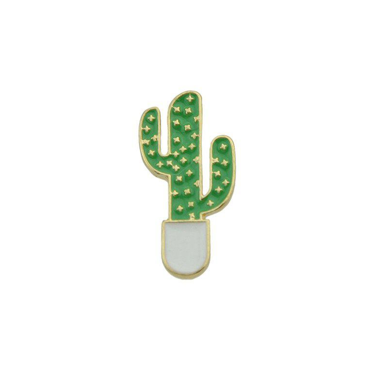Cute Star Cactus Tiny Brooch - GREEN