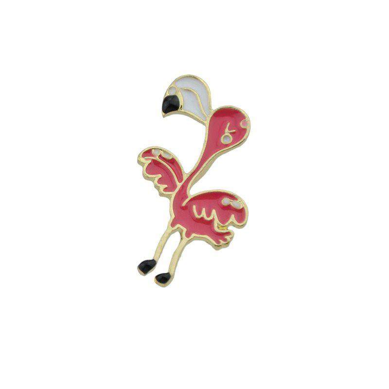 Bird Tiny Funny Brooch - Rouge