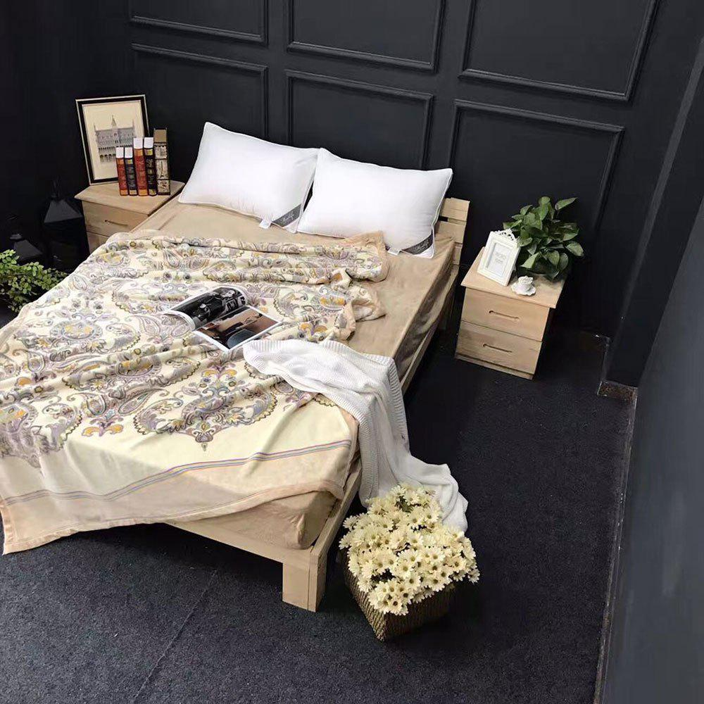 Floral Printed Throw Naked Sleep Blanket - PALOMINO EURO KING