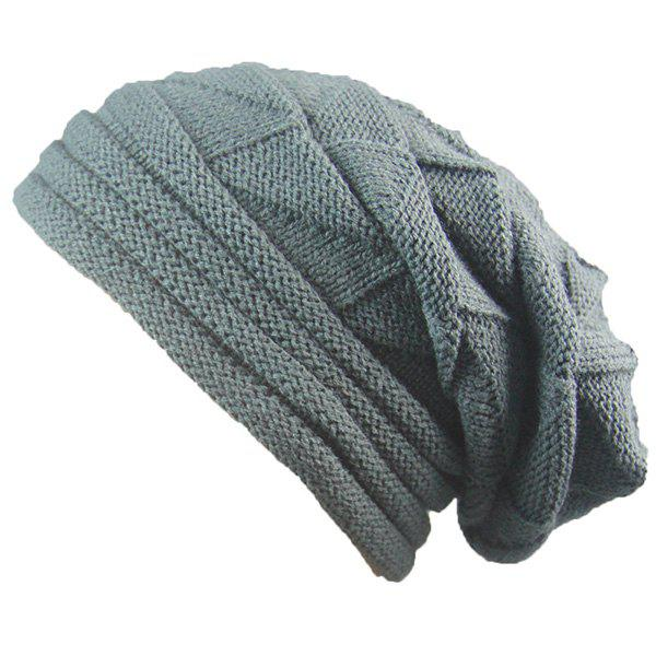 Triangle Knitting Fold Warm Beanie triangle knitting fold warm beanie