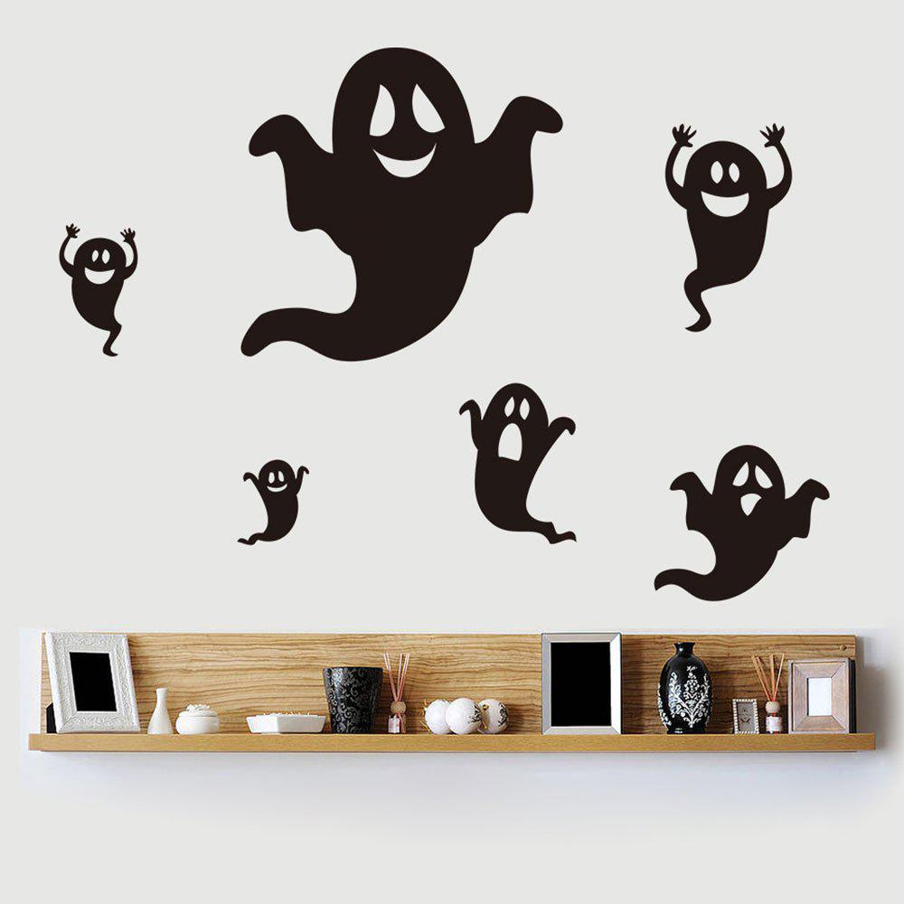 Stickers de mur en forme de Halloween Ghost Shape DIY - Noir