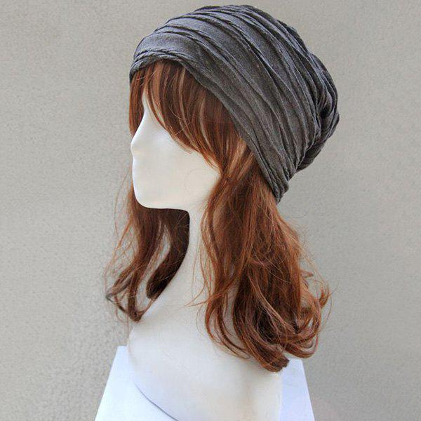 Knitting Folding Layered Warm Beanie tiny rivet embellished knitting beanie