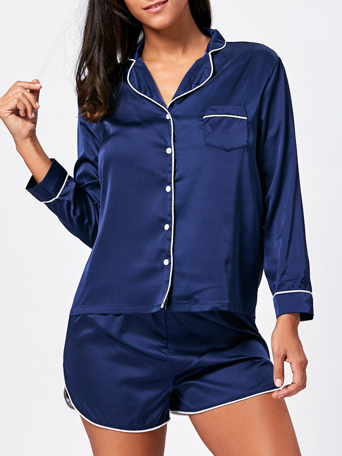 Satin Sleep Shirt with Shorts