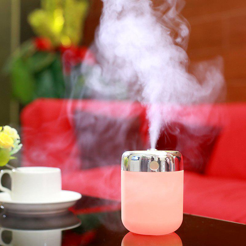 Oblique Hole Humidifier With Color Changing LED Light - PINK