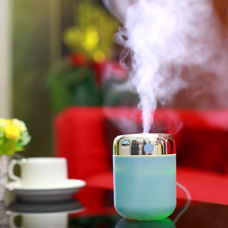Oblique Hole Humidifier With Color Changing LED Light - BLUE