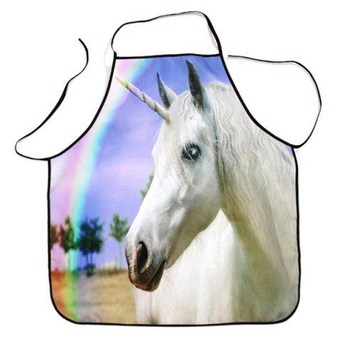 Rainbow Unicorn Waterproof Cooking Baking Apron - COLORMIX 80*70CM