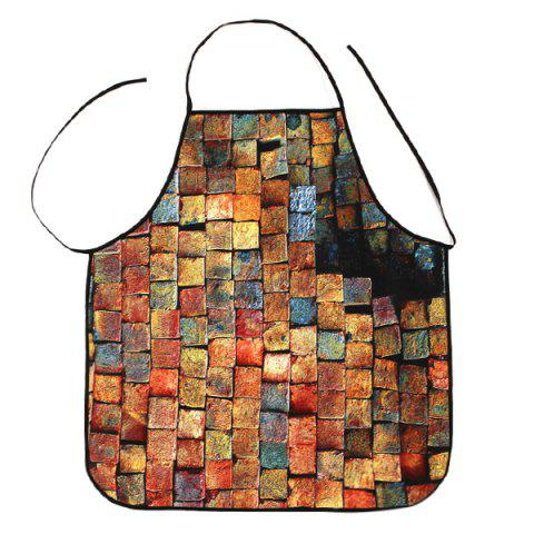 Kitchen Product Psychedelic Brick Print Apron - BRICK RED 80*70CM