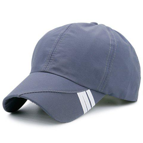 Stripe Embellished Baseball Hat - DEEP GRAY