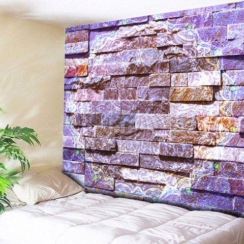 novelty brick wall printed bedroom tapestry purple w79 inch l59 inch - Bedroom Tapestry