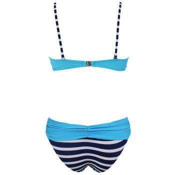 Twist Front Push Up Bikini Set - BLUE M
