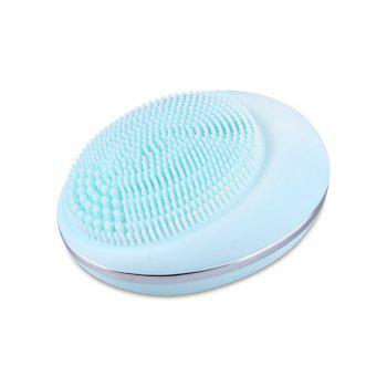 Deep Pore Skin Cleansing Silicone Facial Massage Instrument -  LIGHT BLUE