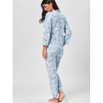 Wrap Floral PJ Set with Sleeves - 2XL 2XL