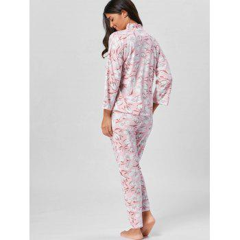 Floral Wrap PJ Set with Sleeves - LIGHT PINK XL