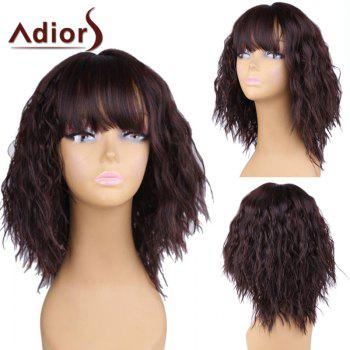 Adiors Short Full Bang Fluffy Natural Wave Bob Synthetic Wig