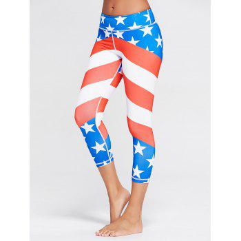 American Flag Patriotic Workout Leggings