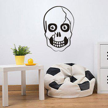 Halloween Skull Shape Home Decor Sticker mural - Noir