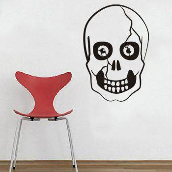 Halloween Skull Shape Home Decor Wall Sticker - BLACK BLACK