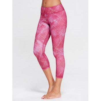 Printed Capri Workout Tights With Pocket