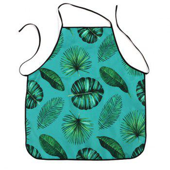 Greenery Leaves Printed Water Resistant Apron - GREEN GREEN