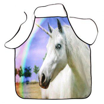 Rainbow Unicorn Waterproof Cooking Baking Apron - COLORMIX COLORMIX