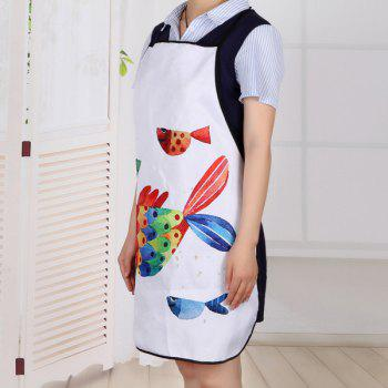 Cartoon Art Fish Fabric Apron Kitchen Product - 80*70CM 80*70CM