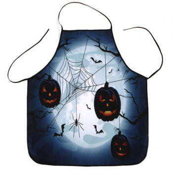Household Kitchen Halloween Theme Print Apron