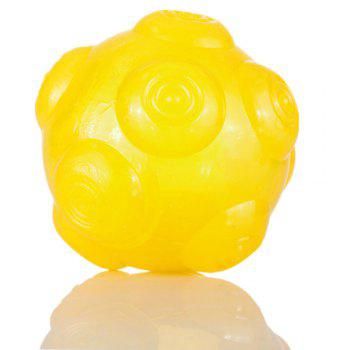 Pet Chomper Toy Dog Hollowed Thrower Ball - YELLOW YELLOW