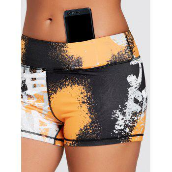 Hit Color Tie Dye Tight Sports Shorts - M M