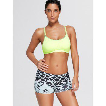 Snake Pattern Mini Sports Shorts - M M