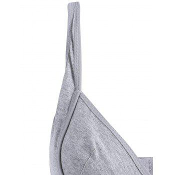 Wireless Nursing Bra - GRAY L