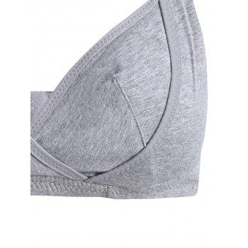Wireless Nursing Bra - GRAY XL
