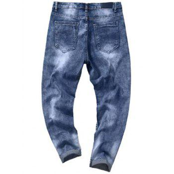 Taper Fit Zip Fly Tie Dye Jeans - 32 32