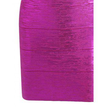 Bronzing Sweetheart Neck Cut Out Bandage Dress - SANGRIA SANGRIA