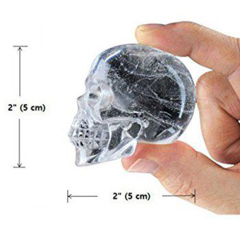 Novelty Halloween 3D Skull Flexible Silicone Ice Cube Tray -  BLACK
