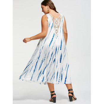 Plus Size Tie-Dyed Sleeveless Maxi Dress - 2XL 2XL