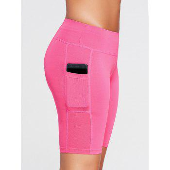 Elastic Waist Running Shorts with Pocket - TUTTI FRUTTI TUTTI FRUTTI