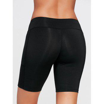 Elastic Waist Running Shorts with Pocket - XS XS