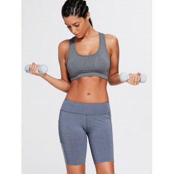 Elastic Waist Running Shorts with Pocket - S S
