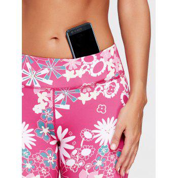 Sunflower Printed Cropped Running Tights - L L