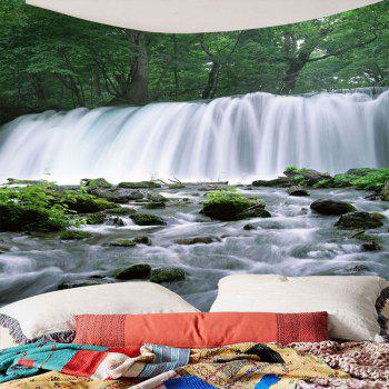Waterfall Trees Waterproof Hanging Tapestry - W79 INCH * L59 INCH W79 INCH * L59 INCH