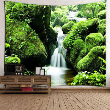 Mosses Stream Waterproof Wall Decor Hanging Tapestry - GREEN GREEN