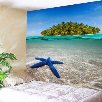 Starfish Island Wall Decor Hanging Waterproof Tapestry - W59 INCH * L59 INCH W59 INCH * L59 INCH
