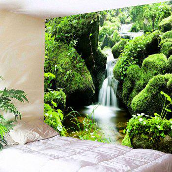 Mosses Stream Waterproof Wall Decor Hanging Tapestry - W71 INCH * L71 INCH W71 INCH * L71 INCH