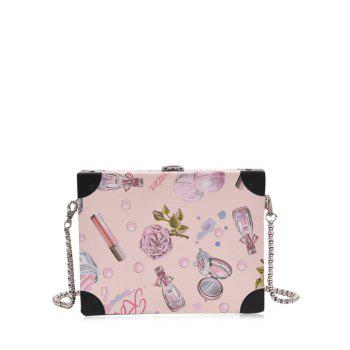 Floral Print Box Shaped Crossbody Bag