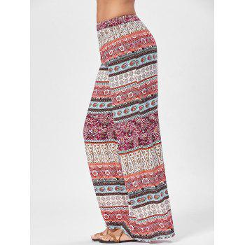 Totem Floral Print Wide Leg Pants - ONE SIZE ONE SIZE