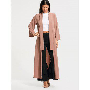 Long Maxi Cardigan with Open Front - S S