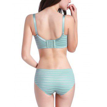 Striped Seamless Bra Set - LIGHT GREEN LIGHT GREEN